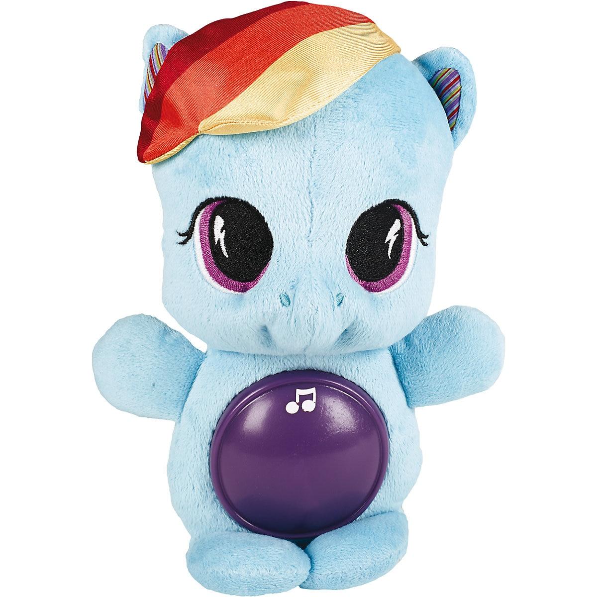 Hasbro recheado & animais de pelúcia 4252295 crianças brinquedos animais de estimação unicórnio brinquedo para dormir meu pequeno pônei mtpromo