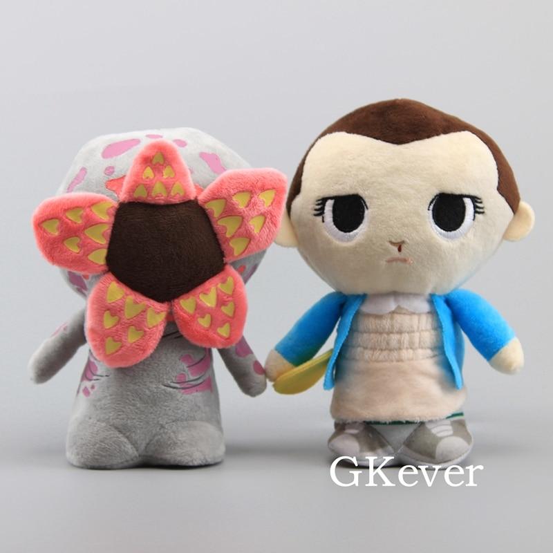 NEW Stranger Things Eleven With Eggo Demogorgon Plush Toy 18cm 7'' Soft Stuffed Dolls Children Xmas Gift