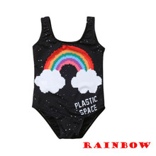 PUDCOCO Toddler Kids Girls Swimwear Swimsuit Beach Bathing Suit Black