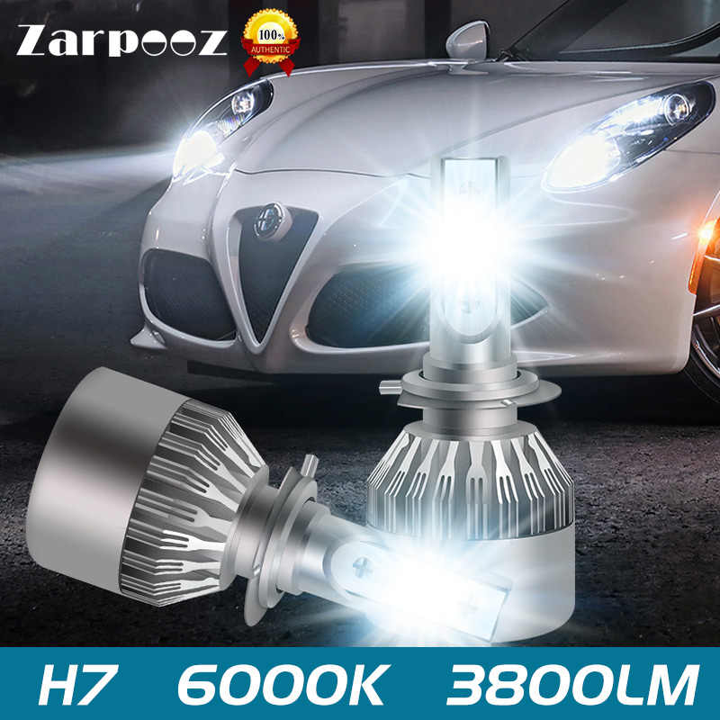 Zarpooz  LED Headlights 12V H7 LED H4 Led HB2 H1 H3 H11 HB3 9005 HB4 9006 9004 9007 72W 8000lm Car Styling Lamp Automotivo