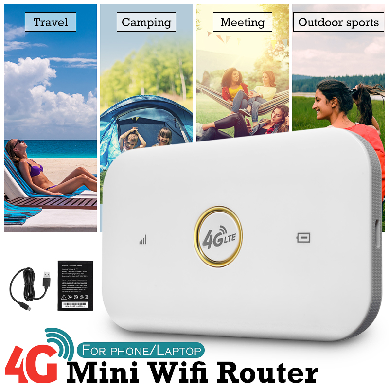 Portable 4G Routeur Haute Vitesse Mobile Sans Fil Wifi Hotspot SIM Carte B1/B2/B5/B8 FDD-LTE TDD-LTE