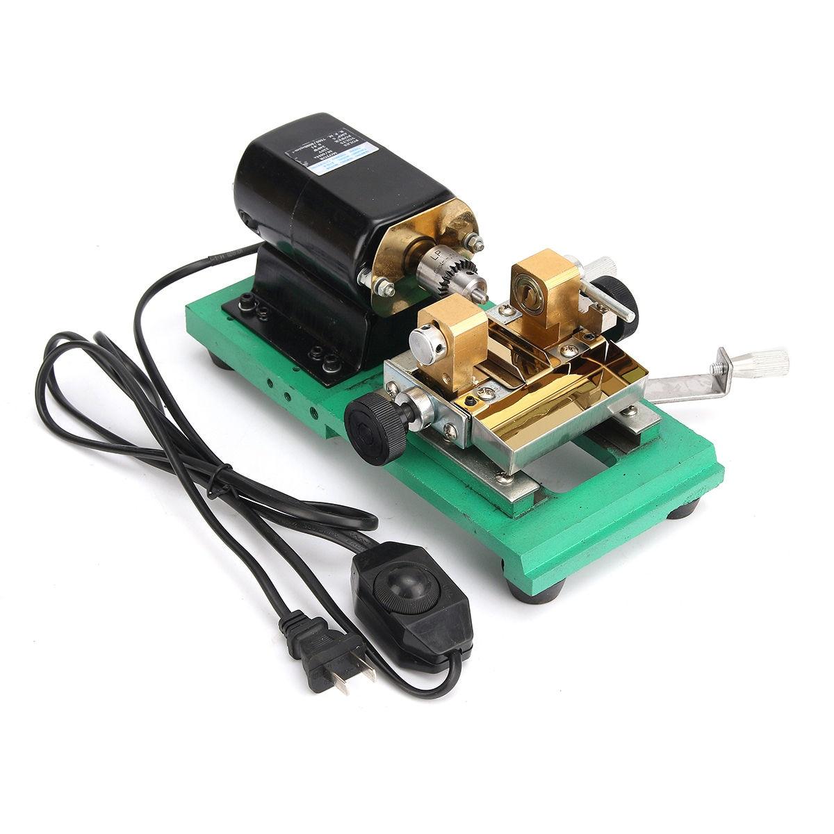 300 W CNC Mini tour machines-outils bricolage travail du bois bouddha perle meulage perles de polissage tour à bois perceuse outil rotatif 110 V - 3