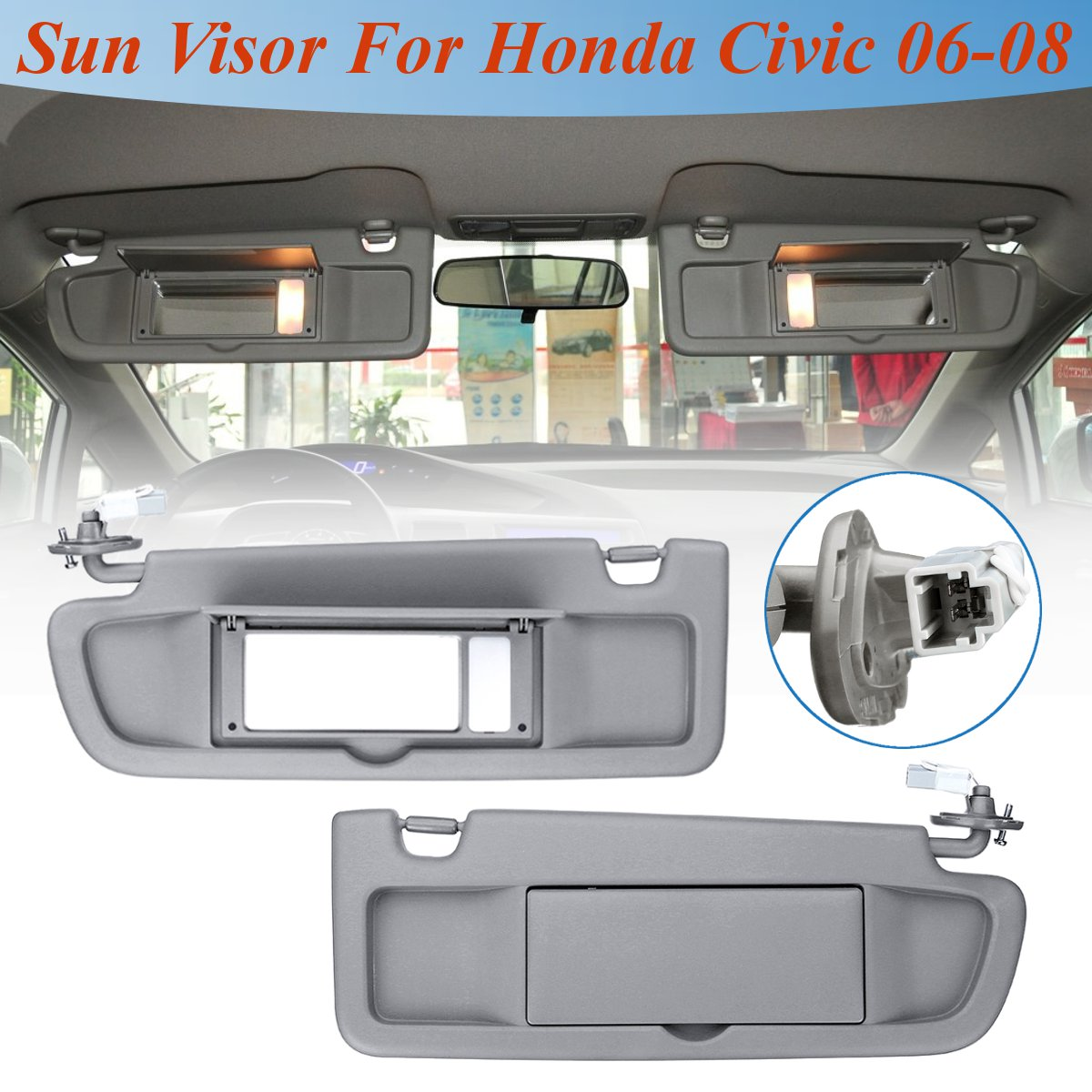 For Honda for Civic for Coupe Sedan 2006 2007 2008 Car LHD Sunvisor  Sunshade 1 Pcs Sun Shield Antidazzle Visor With Lamp Styling-in Sun Visors  from ... a91469d7db0