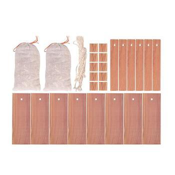 40 sztuk kamfora Drewniana szafa odporny na działanie moli pleśni dezodorant odporne na owady ćma piłki środek odstraszający komary tanie i dobre opinie cedar wood block set