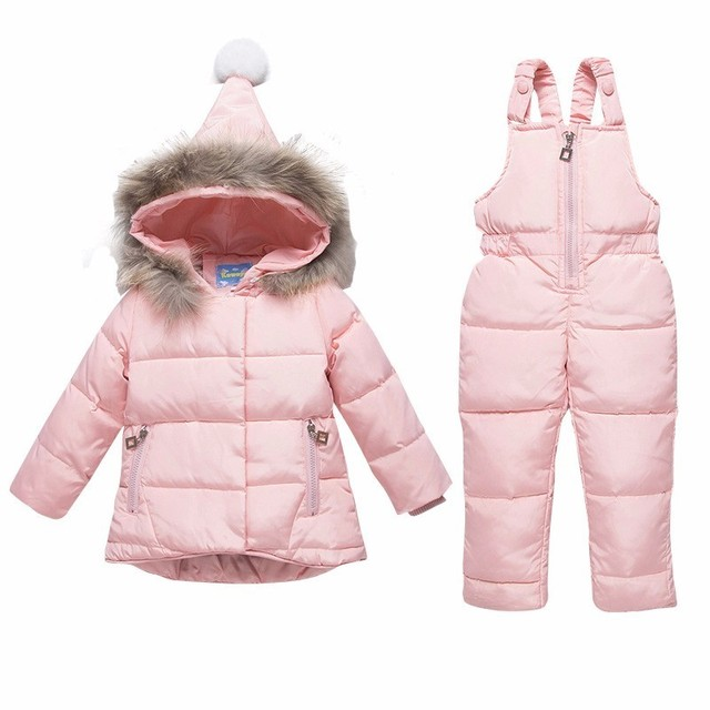 acea3b48875c 2019 Children Down Jacket Baby Girl Boy ski suit Clothes Sets Winter ...