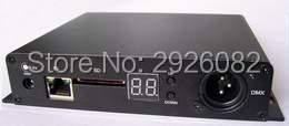 Sd kaart DMX LED pixel verlichting controller, 8 poorten uitgang DMX Controller (on line/off line/wifi/timing/DMX/ vijf in een), a 8 DMX - 2