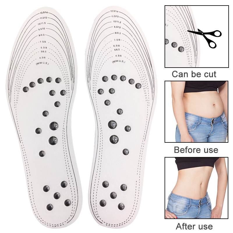 Slimming Acupressure Foot Massager Pad Magnetic Therapy Anti Cellulite For Fat Burner Weight Loss foot reflexology Pads 1 Pairs in Slimming Product from Beauty Health