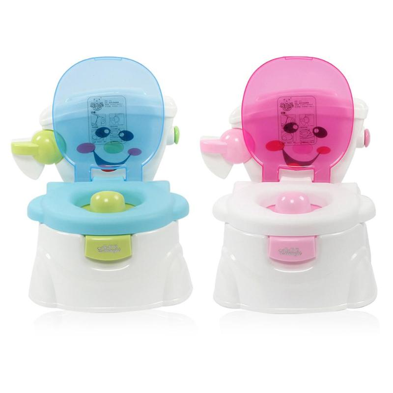 Cute Baby Portable Potty Multifunctional Toilet Training Seat Baby Kids Training Pot Learning Educational Toilet Training