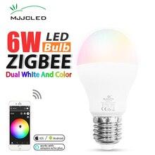 Zigbee Lamp E27 6W E26 ZIGBEE Bulb RGB CCT Dual White Smart Lamp App Control LED Bulb AC 110V 220V 230V Zigbee Light Link e27 275w water proof anti explosion infrared heat lamp bulb ac 220v