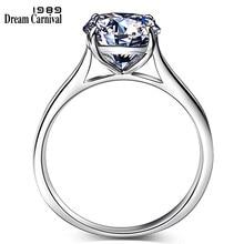 0f594bcb9b33 Sueño carnaval 1989 Venta caliente 925 joyería de plata Anillos de plata  AAA calidad Zirconia cúbica anillo de compromiso SJ2265.