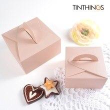 20 шт Бумага Подарочная коробка свадебные конфеты шоколадный торт коробка с ручкой розовая Подарочная коробка упаковки любовника вечерние пользу картонные