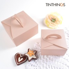 20 PCS Paper Gift Box Wedding Candy Chocolate Cake With Handle Pink Packaging Lover Party Favor Cardboard