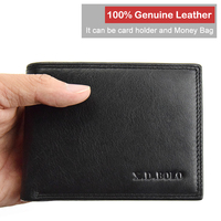 X.D.BOLO Mens Wallet Leather Genuine Coins Purse Men Card Holder Walet Fashion Small Man Wallet with Coin Pocket Man Purses