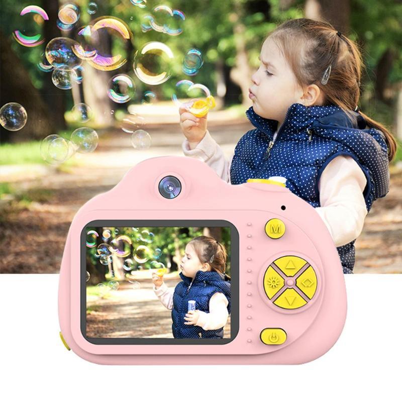 Enfants appareil photo numérique cadeau d'anniversaire 2 pouces Mini appareil photo numérique dessin animé mignon appareil photo jouets pour bébé enfants en plein air voyage jouet