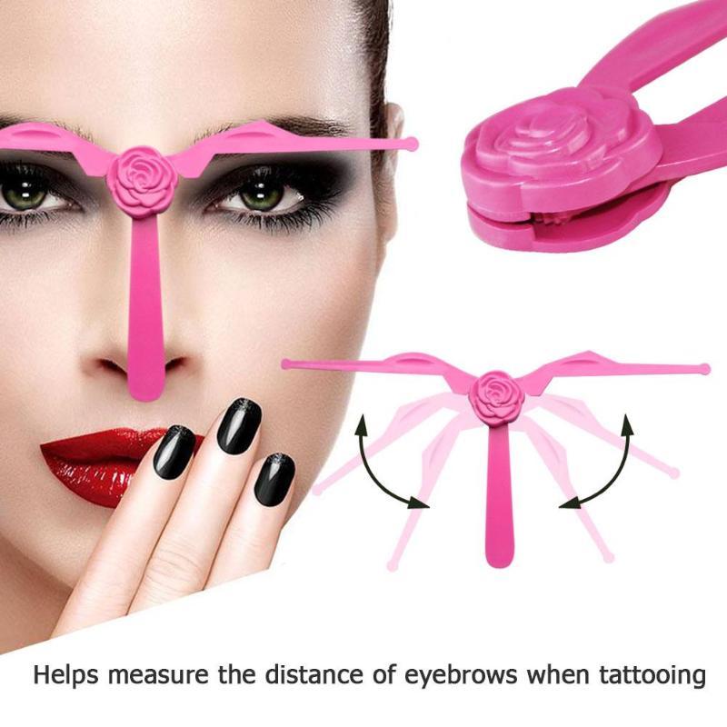 Foldable DIY Eyebrow Template Eyebrow Shape Stencils Eyeliner Beauty Ruler Makeup Accessories Tools