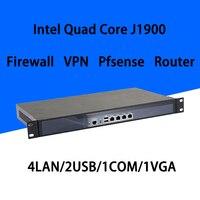 Брандмауэр Mikrotik Pfsense VPN принадлежности для сетевой безопасности маршрутизатор ПК Intel 4 ядра COM J1900 [hunsn RS18] (4LAN/2USB/1COM/1VGA)