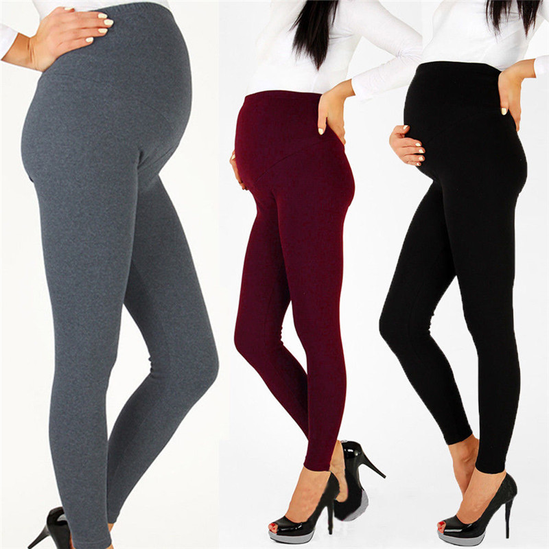 Pregnancy Maternity Winter Warm Pants Leggings High Elastic Waist Thermal Leggings Solid Thickened Trousers Maternity Clothings