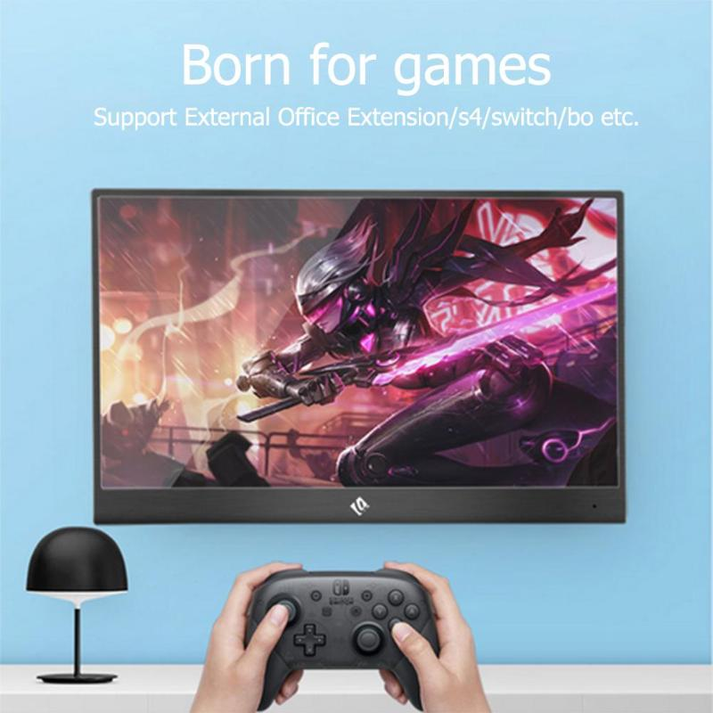 15.6 Inch Portable Monitor1920x1080p IPS  7.6mm Thin Touch Screen HDMI HDR Monitor for PS4 XBOX One NS TV Set Box PC monitor portátil hdmi ps4