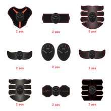 2pc Replacement Muscle Stimulator EMS Figure Slimming Machine Weight lossing Tens Exercise Slim Belt Rechargeable Part Black