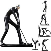 New Table Ornament Creative Golf Player Kung Fu Boy Home Figure Ornament Toy Figure For Wedding Home Ornament Decoration