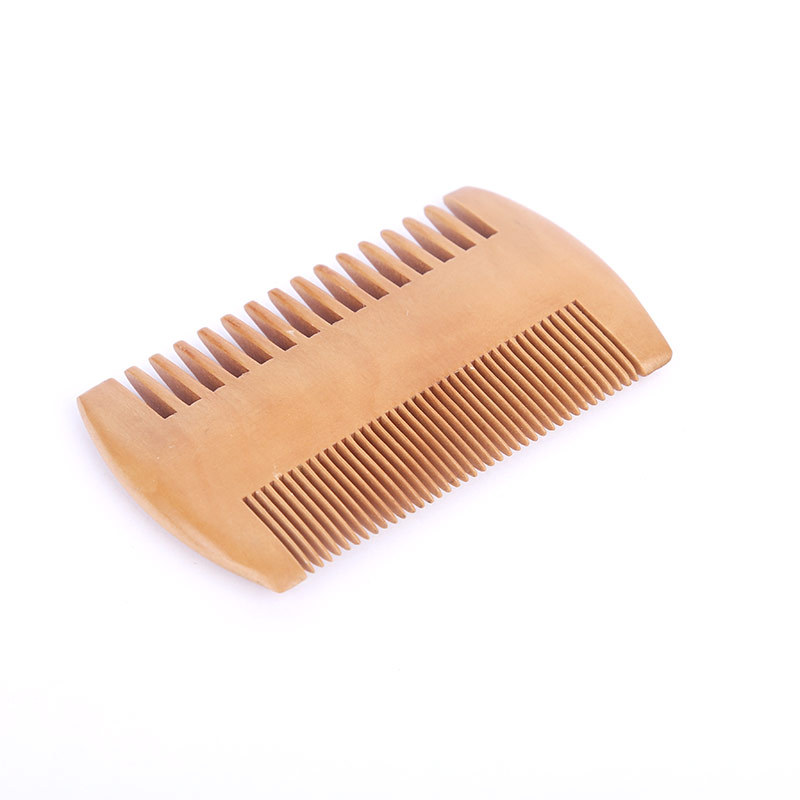 High Quality Double-Sided Wooden Comb Massage Comb Anti Static Fine And Coarse Teeth For Hair Mustaches