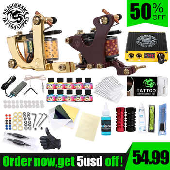 Professional Complete Tattoo Kit Set Tattoo Machine Power Supply 2 guns Immortal Color Inks Tattoo Supplies - DISCOUNT ITEM  50% OFF All Category