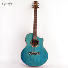 good blue color green color guitarra Tay shap body acoustic