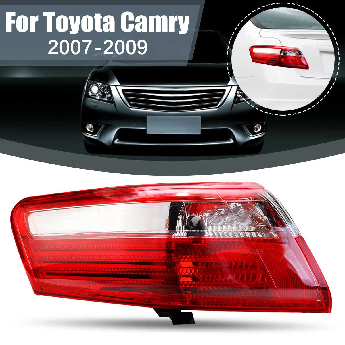 Car Tail Light Rear Fog Lamp Brake Light For Toyota <font><b>Camry</b></font> 2007 <font><b>2008</b></font> 2009 Auto Car Replacement Accessorie TO2818129 TO2818131 image