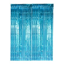 Birthday Party Decorations Adult Photo Backdrop Turquoise Metallic Foil Fringe Tinsel Curtains Bridal Shower Wedding Decoration
