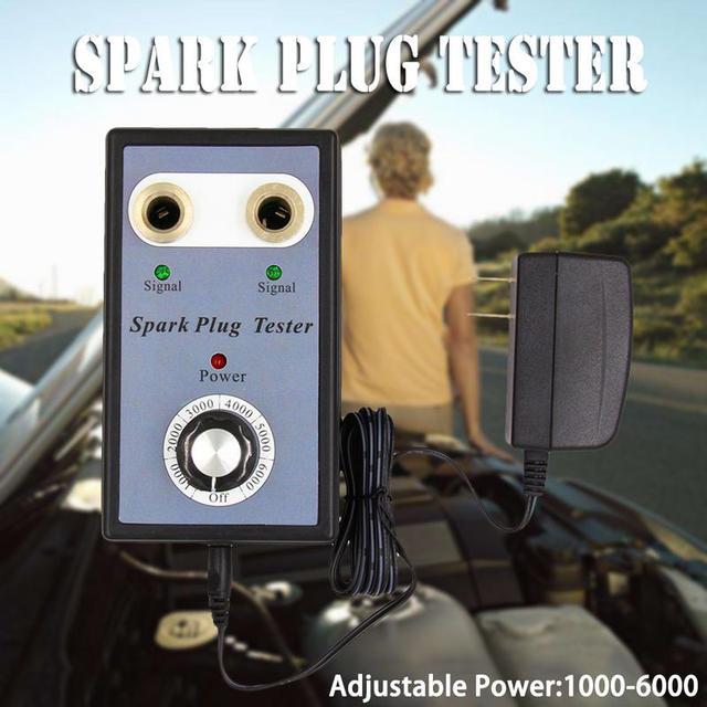 Professional Car Detector Dual Hole Car Spark Plug Tester Detector For 12V Gasoline Vehicles Car Spark Plugs