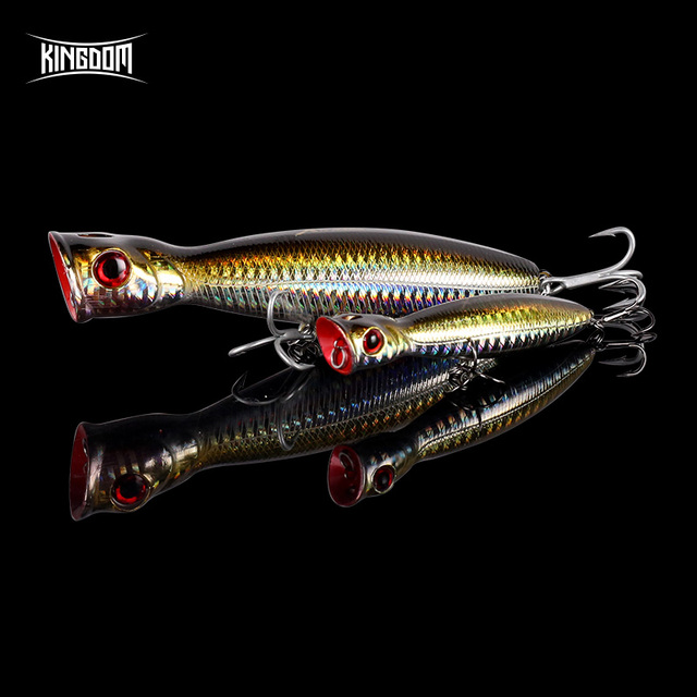 Kingdom Popper Fishing Lures High Quality professional Hard Baits 8cm 10cm 13cm Floating Top water Wobblers Fishing Tackle Baits 1