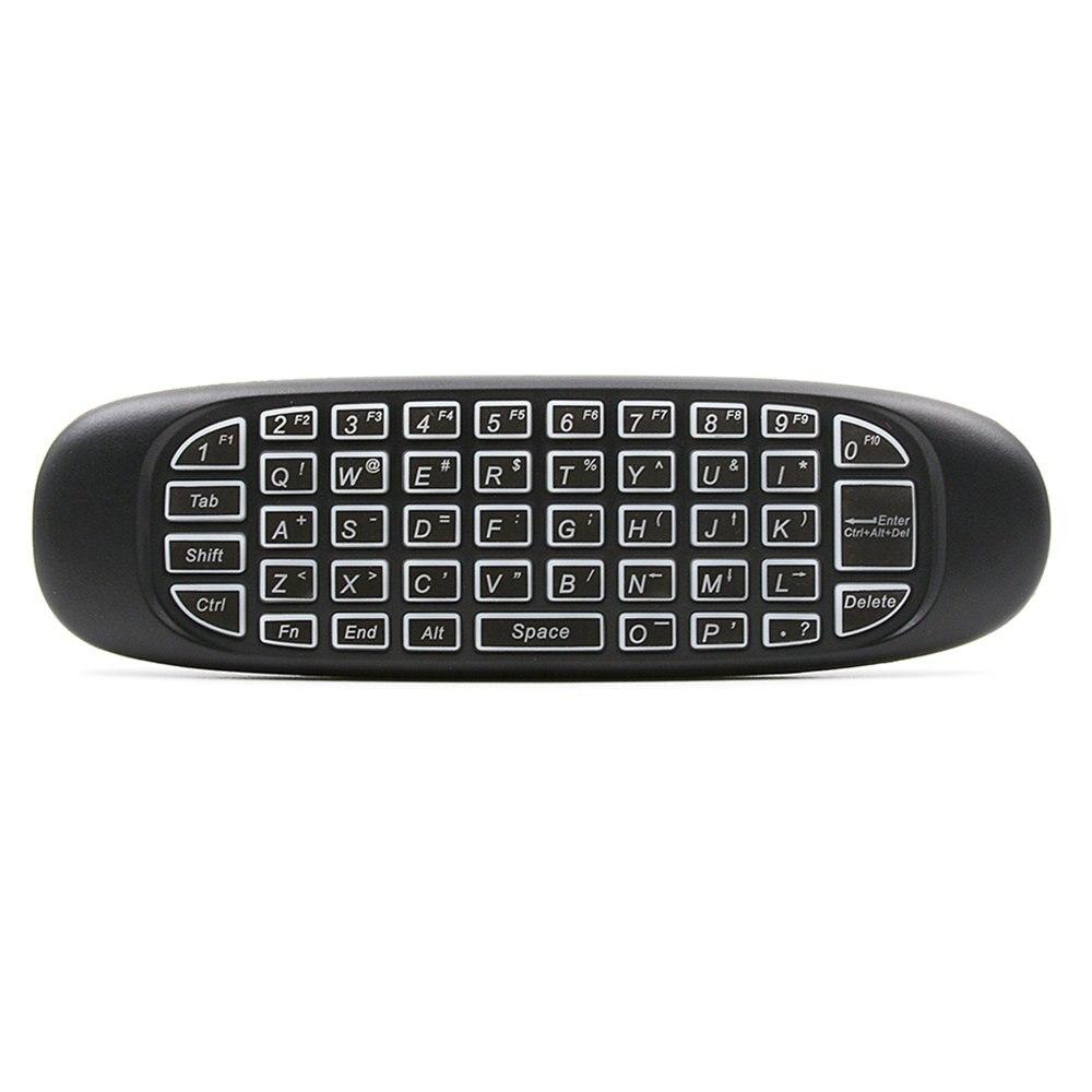 Het Beste 2.4g Air Mouse, Draadloze 6-axis Keyboard Afstandsbediening Motion Sense Backlight Voor Mini Pc Smart Tv Android Tv Box Projector