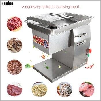 XEOLEO Коммерческая Мясорубка Электрический Нож для мяса из нержавеющей стали ломтик машина для резки мяса 2,5/3/4/5/6/8 мм 250 кг/ч 550 Вт