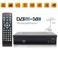 Koqit FTA DVB C DVB T2 Digital TV Box Converter AC3 DVB T2 Tuner Receiver Set Top Box Dual USB Record Wifi Youtube IPTV Antenna