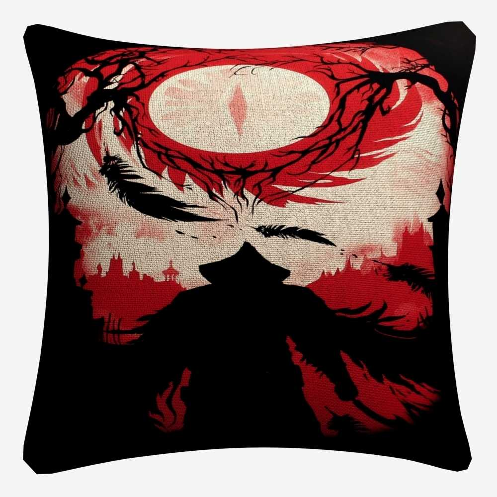Bloodborne Dark Hunter เกมตกแต่งผ้าฝ้ายลินิน Cushion Cover 45x45 เซนติเมตรสำหรับเก้าอี้โซฟาปลอกหมอนบ้านตกแต่ง Almofada