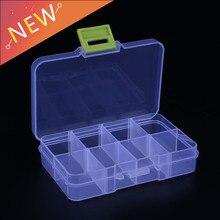 Новинка, 8 ячеек, красочный портативный ящик для хранения ювелирных изделий, контейнер, кольцо, электронные детали, винтовые шарики, органайзер, пластиковый чехол