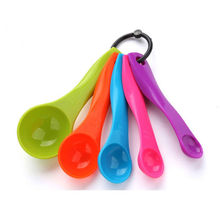 5 Pcs Colorful Plastic Measuring Spoons Set Kitchen Utensil Cooking Baking Tool(1 / 2.5 7.5/ 15ml) Sugar Measure Spoon