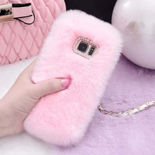 Rabbit Fur Case For Samsung J3 J5 J7 A6 G530 G850 Furry Shell Phone Cases For Samsung Galaxy S8 S9 Plus S7 Edge Note 9 8 Cover