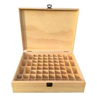 AUGKUN 68 Grid Wooden Essential Oil Box Wooden Essential Oil Storage Box Solid Wood Gift Box Multi Square Essential Oil Box
