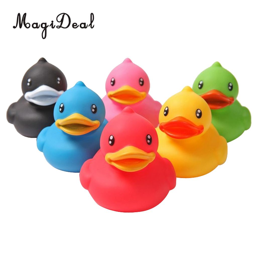 Set Of 6 Holiday Rubber Squeaky Duck Ducks Duckys Duckies Kids Children Baby Shower Bath Bathing Swim Swimming Pool Toy