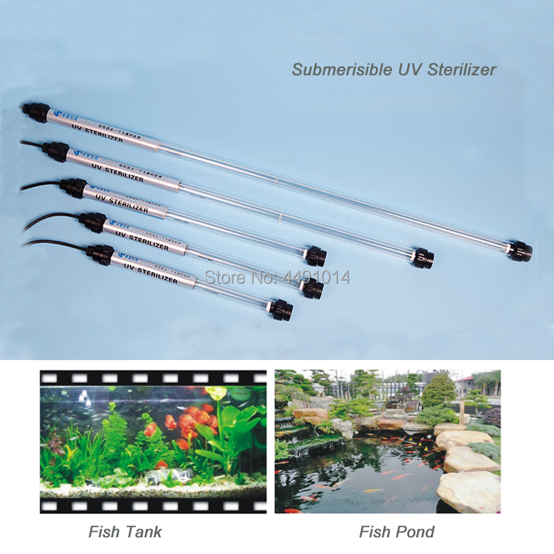 20 W Submersible UV lampe stérilisation de l'eau UV Aquarium lumière ultraviolette purificateur d'eau