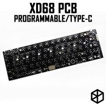 Xiudi xd68 pcb 65% Clavier Mécanique personnalisé Soutien TKG TOOLS Éclairage Inférieur RVB PCB programmé kle Beaucoup de mises en page