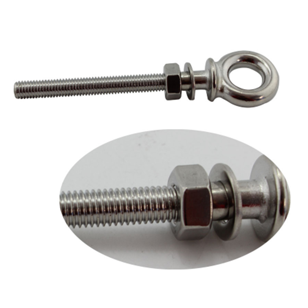 Stainless Steel Lifting Eye Bolts with Nuts Washers Marine Fasteners M6