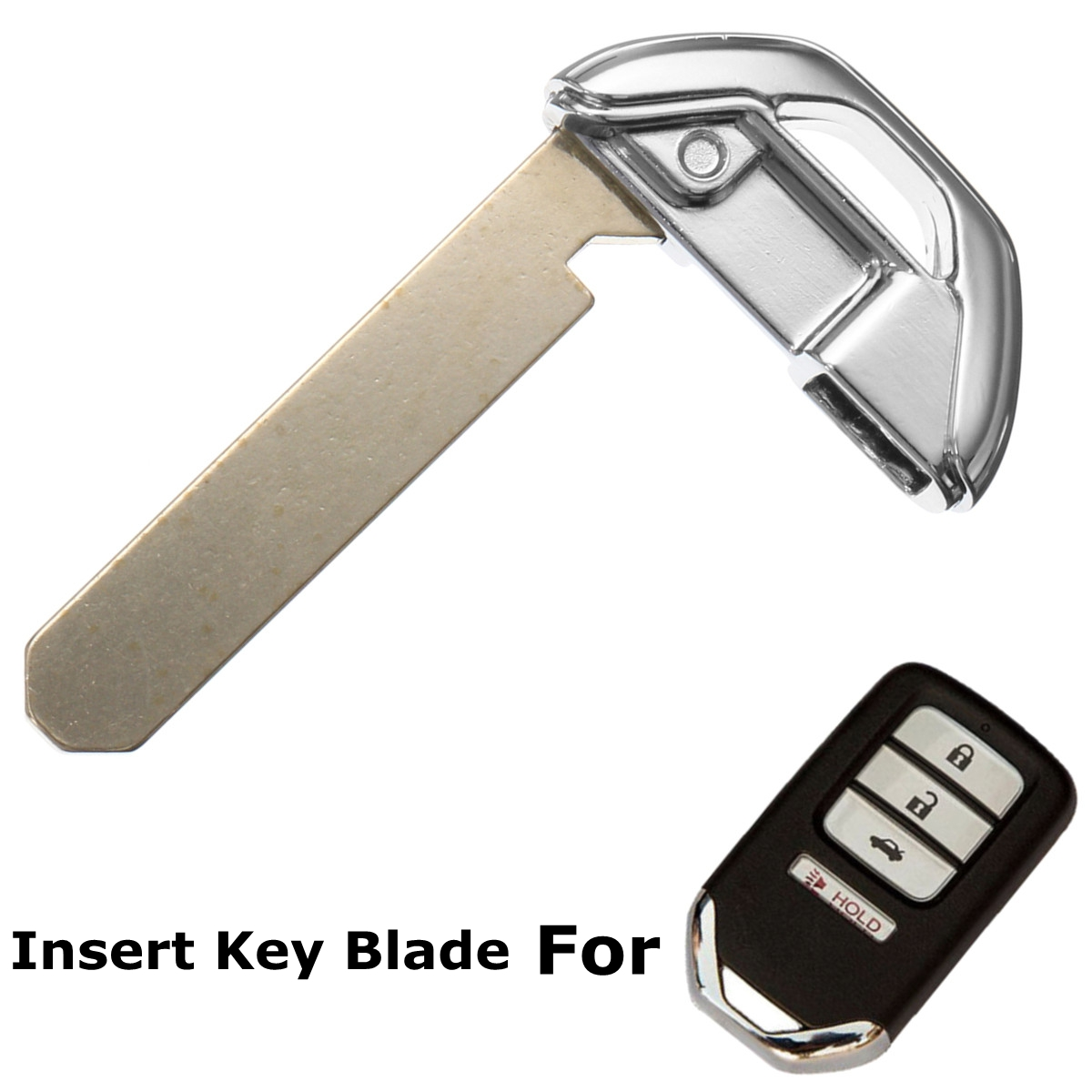 qualitykeylessplus Two Emergency Smart Prox Remote Fob Key Insert Replacements for Acura Uncut Blade Free KEYTAG