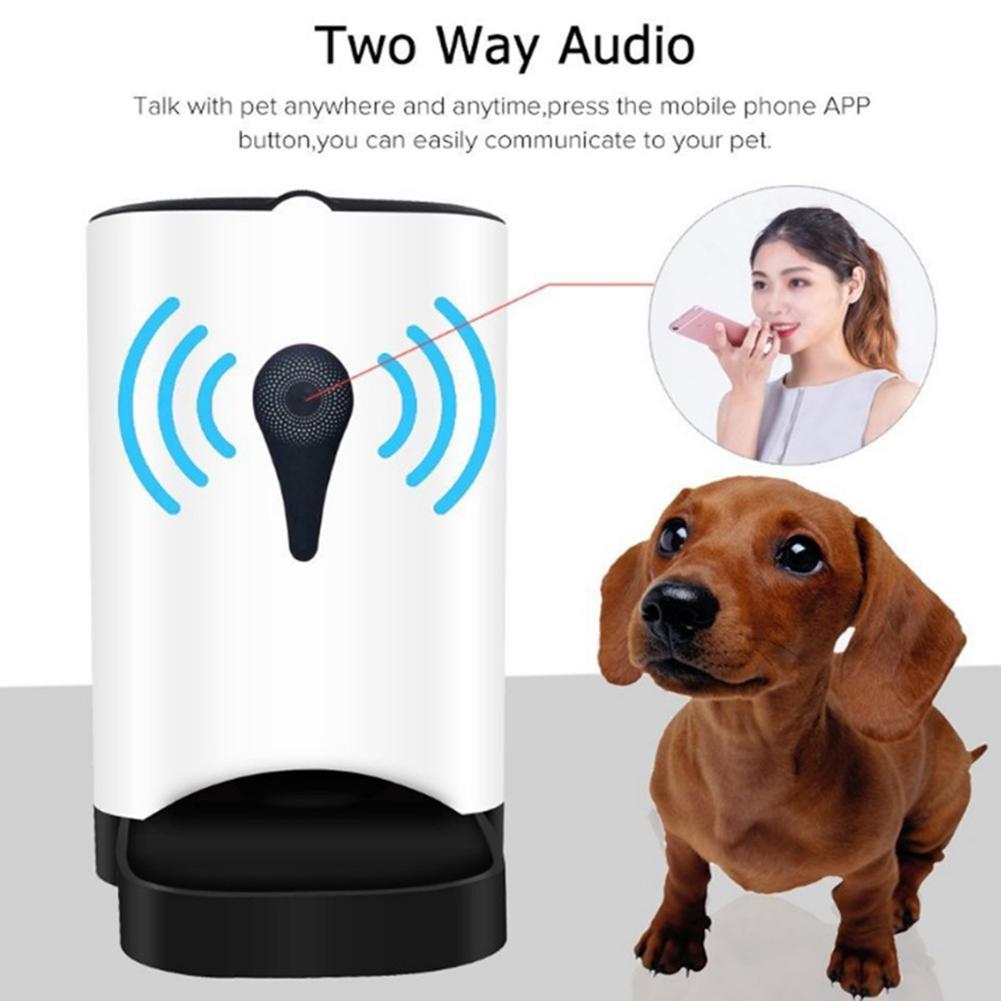 Ue 4.5L Alimentatore Dell'animale Domestico Wifi a Distanza di Controllo di Modo Intelligente Alimentatore Automatico Dell'animale Domestico Cani Cibo per Gatti Ricaricabile con Monitor Video - 2