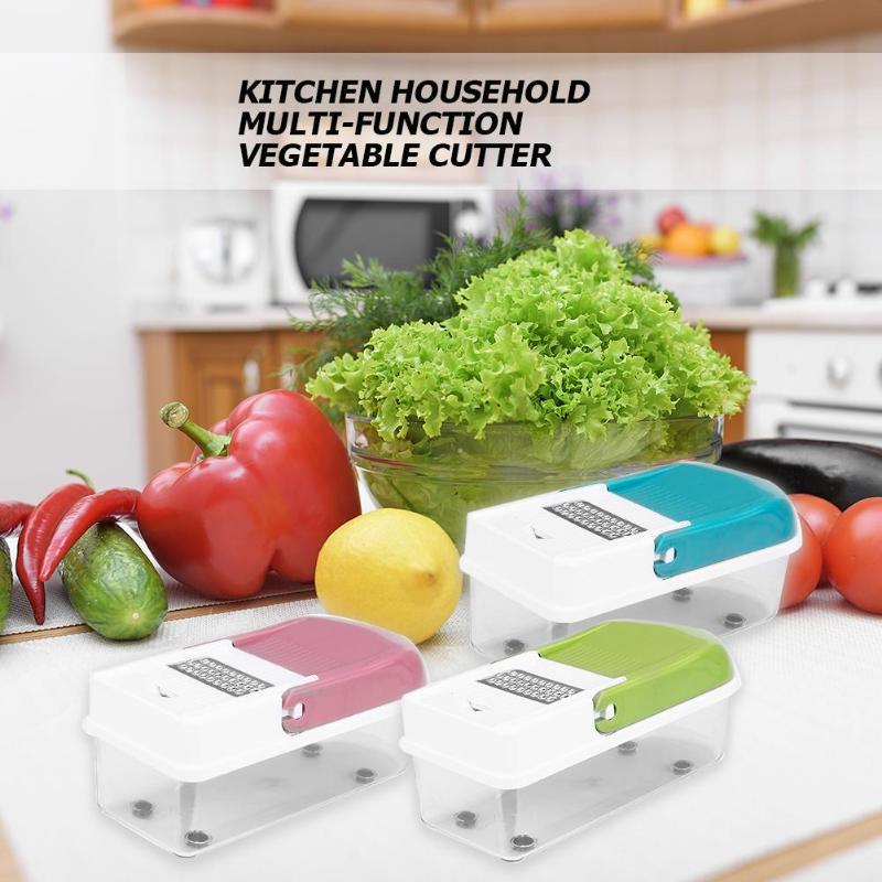 Multifunctional Vegetables Slicer Fruit Cutter Manual Potato Peeler Grater Sawtooth brush 8 knife cutting machine