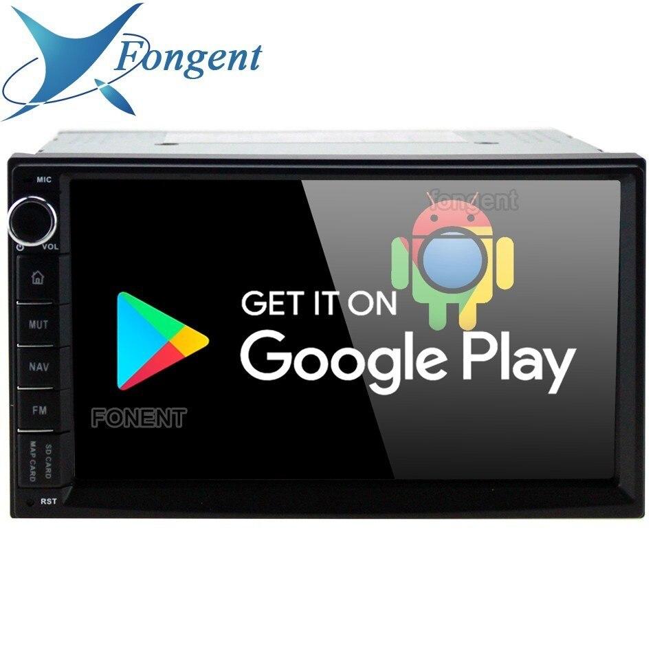 7 pouces universel Octa Core 2 din voiture Android 8.0 Radio lecteur multimédia Px5 4g Ram 32g Rom Gps Navigation Ips écran Tda7850