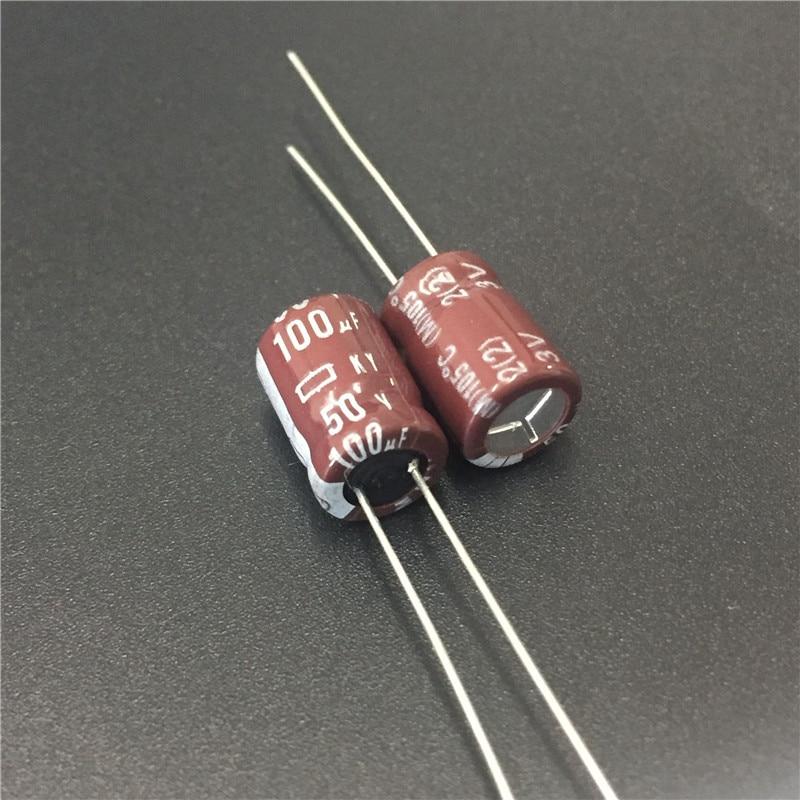 100pcs 220uF 50V NCC LXV 10x25mm 50V220uF Low Impedance Long Life Capacitor