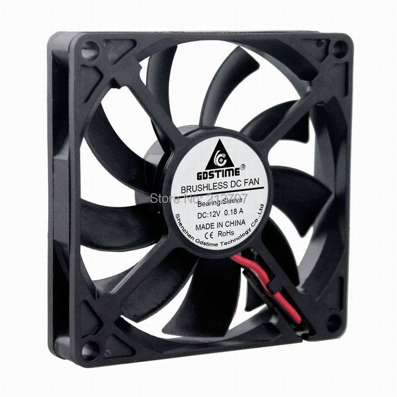 10pcs 80x80x10mm 80mm 12V Brushless DC Cooling Fan Computer Cooler Cooling Fan