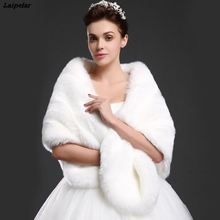 new arrival winter bride faux fur shawl imitation fox wrap wedding unreal white black red fluffy warm cape